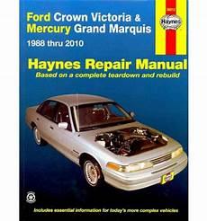 auto repair manual free download 2011 ford crown victoria engine control ford crown victoria mercury grand marquis automotive repair manual sagin workshop car
