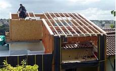 prix rehausse toiture sur 233 l 233 vation panneaux maison ossature bois