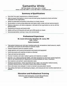 16 free medical assistant resume templates hloom