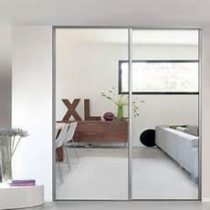 porte de placard miroir porte de placard coulissante miroir gris form valla 92 2 x