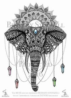 mandala elephant bethany stockell by bethanystockell