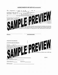 colorado assignment of lien legal forms and business templates megadox com