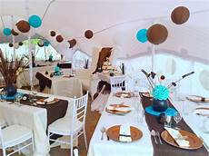 turquoise blue chocolate brown traditional wedding decor by shonga events shongaevents in