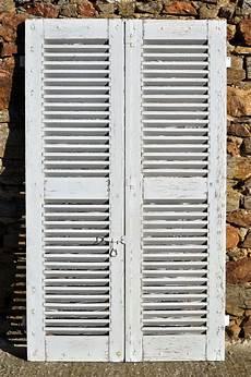 Paire Volets Persiennes Bois Anciennes Fen 234 Tre Porte