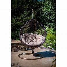 brayden studio yorba hanging swing chair with stand