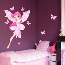 stickers deco chambre fille stickers chambre b 233 b 233 fille papillon