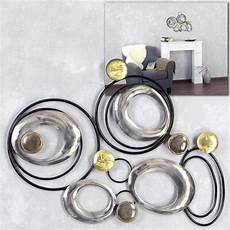 exklusive wanddeko kreise metall bild wandbild 63x46