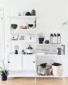 string pocket regal shelf styling shelf decor shelves shelfie decor