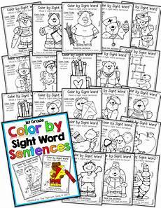 color by sight word sentences 1st grade moffatt