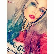come back evahair quot harley quinn quot inspired hair color half