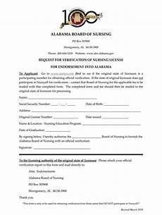 al request for verification of nursing license 2016 fill