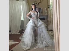 Fantacy Luxury Crystal Wedding Dresses With Detachable