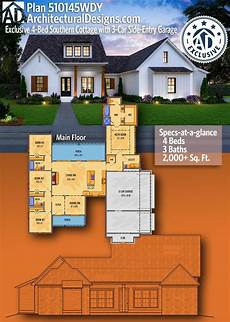 acadian cottage house plans plan 510146wdy modern acadian house plan with office and