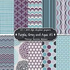 purple grey and aqua digital paper 10 by