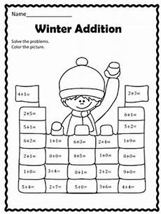 winter worksheets for 1st grade 20148 free winter addition by christi s creative corner tpt