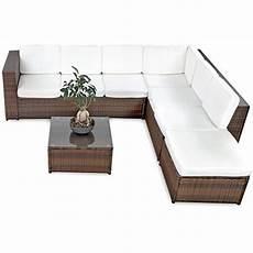 Lounge Set Polyrattan - li il 19tlg cccl polyrattan garten lounge set handgeflochten
