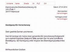 kündigung versicherung vorlage hannoversche kfz versicherung k 252 ndigung vorlage