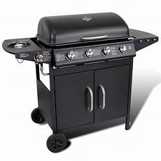 edelstahl grill gas der edelstahl gas bbq grill gasgrill 4 1 brenner schwarz