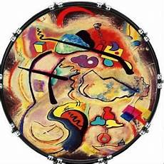 aquarian 22 quot kick bass drum head graphical image front skin painting 11 ebay