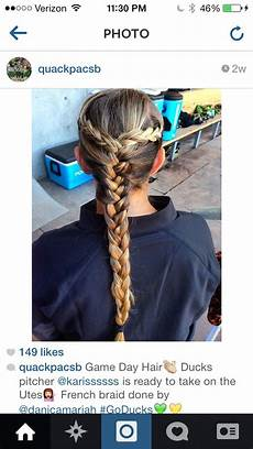 hairstyles for softball catchers hair