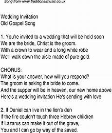 Wedding Invitation Lyrics wedding invitation christian gospel song lyrics and chords
