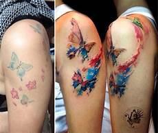 Schmetterling Arm - butterflies aquarell