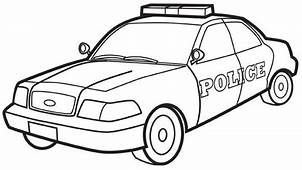 Police Car Colouring Page With Images  Cars Coloring