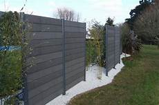 Wood Composite Garden Fence Forexia 174 Anthracite