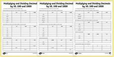 multiplying decimals worksheets by 10 and 100 7065 multiplying and dividing decimals worksheet 10 100 1000