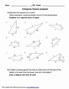pythagoras theorem worksheets pdf templatescoverletters com