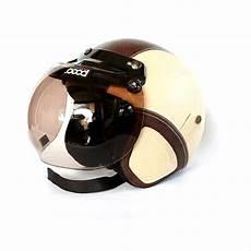 jual helm retro bogo kulit clasic coklat krem di lapak moe moe helm helm retro