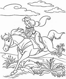 Malvorlage Pferd Prinzessin Coloring Pages Disney Princess Printable For
