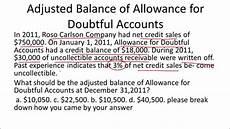 allowance for doubtful accounts balance sheet exle youtube