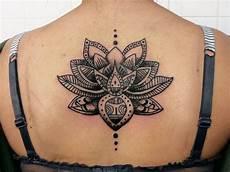 Lotus Mandala Dos Encre Tatouage Tatouage Fleur