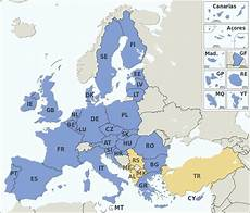 Eu Staaten 2017 - file eu member states and candidate countries map svg
