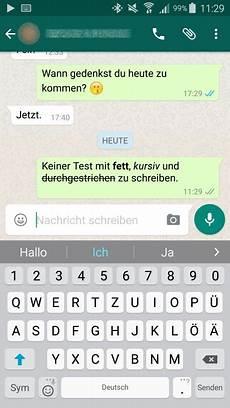 Whatsapp Fett Kursiv Und Durchgestrichen Schreiben