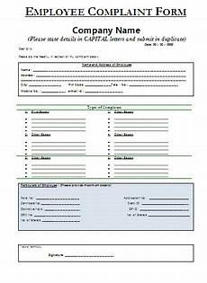 sle employee complaint form certificate templates form exle certificate templates