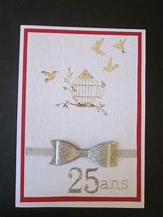 Carte Pour Des 25 Ans De Mariage Noces D Argent Carte