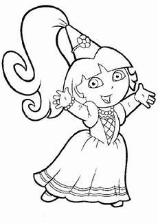 la exploradora princesa para colorear