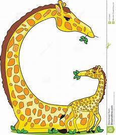 Animal Alphabet G Stock Vector Illustration Of Letter
