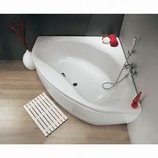 baignoire d angle nalia 145x145 cm avec tablier vidage