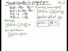 maxwell equations in integral form maxwell equation youtube