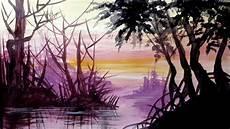 23 Lukisan Pemandangan Sederhana Untuk Pemula Di Kanvas