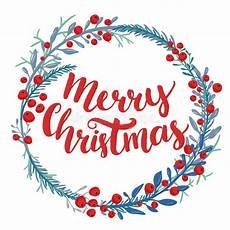 merry christmas type in wreath frame custom brush stock vector image 63023374