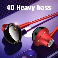 Hybrid Earphone Heavy Bass Headphone With by Azimiyo Hybrid Pro Hd In Ear Earphones Braided Wired 4d