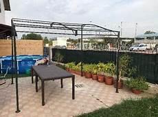 amaca obi gazebo giardino 3x4 poliestere bianco verde posot class