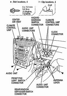 free service manuals online 2000 acura rl instrument cluster acura radio panel removal replacement instructions diagram dash disassembly