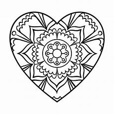 mandala coloring pages hearts 17922 doodle mandala stock vector illustration of meditation 75413315