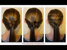 3 quick and easy ponytails back to school hairstyles youtube
