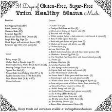 Trim Healthy Mama Food Chart Thm Menu With Printable Shopping Lists
